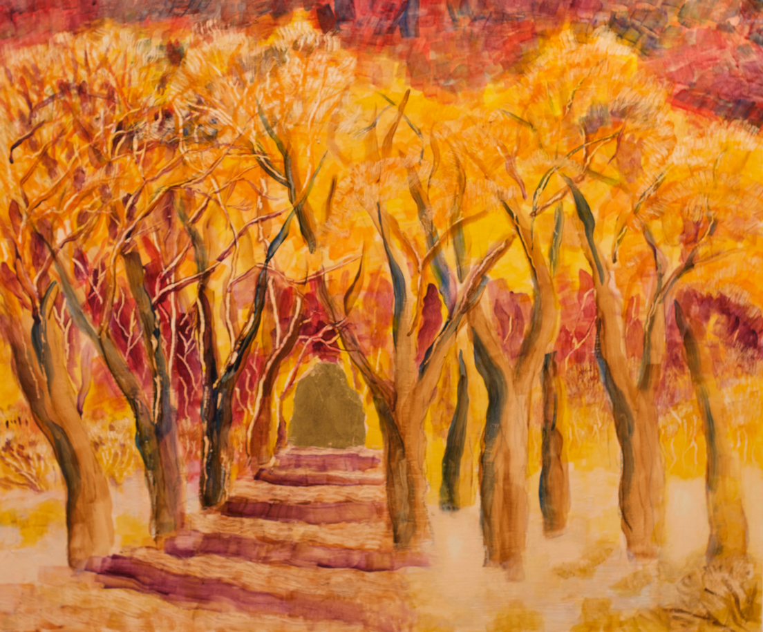 Lor Kasper Artist Taos New Mexico Gold Trees