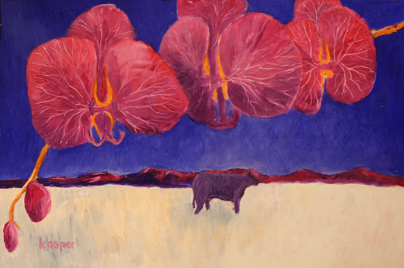 Lor Kasper Artist Taos New Mexico Orchid Cow
