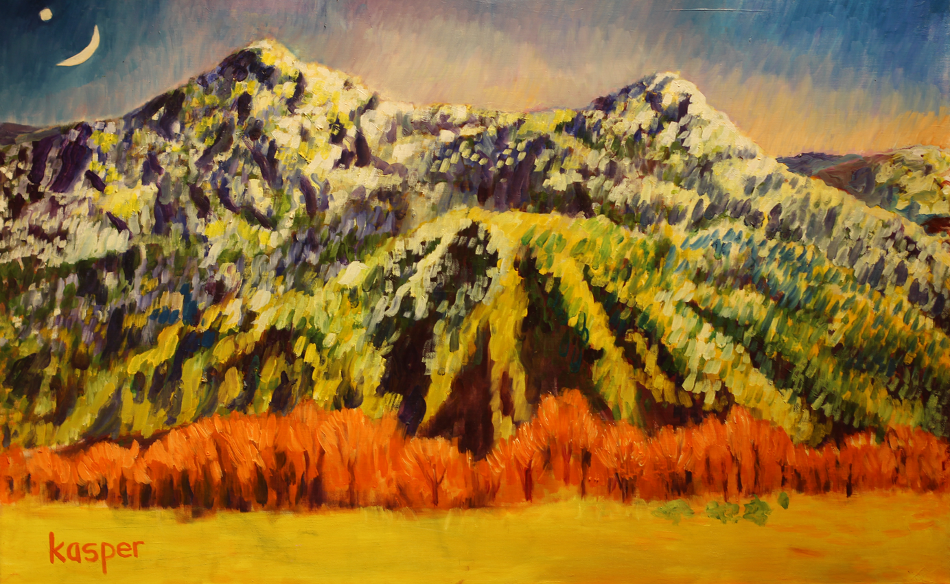 Lor Kasper Artist Snow on Kachina Peak Taos New Mexico