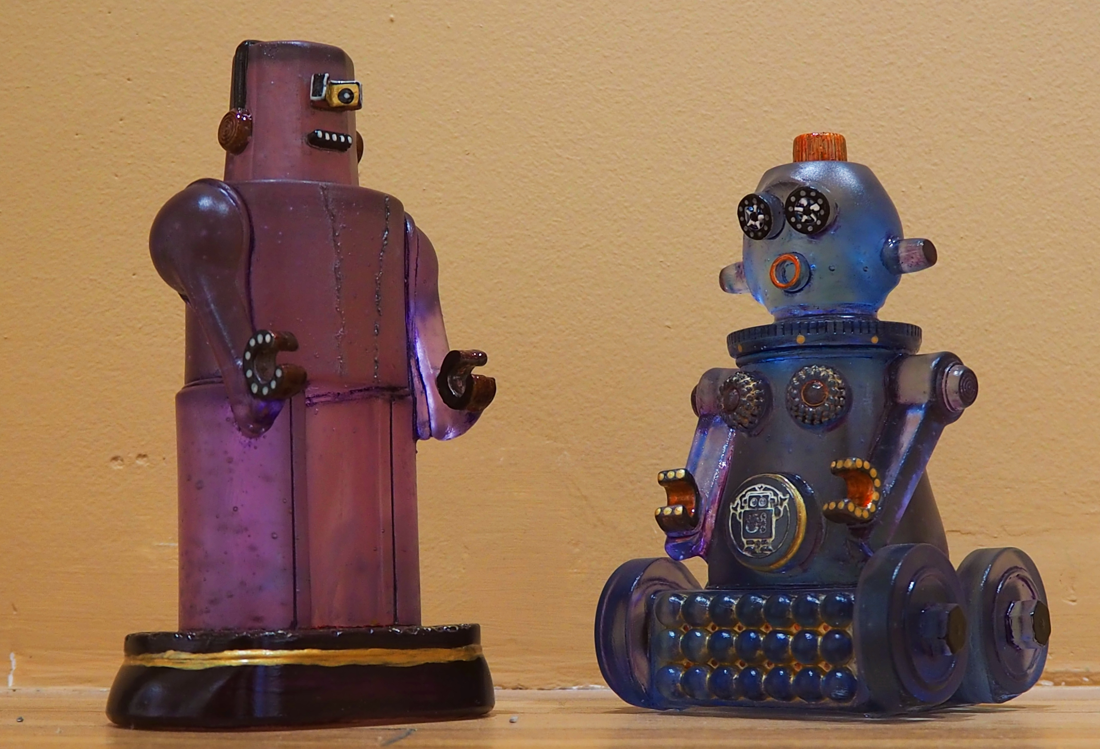 Glass Casting Robots Taos New Mexico Art